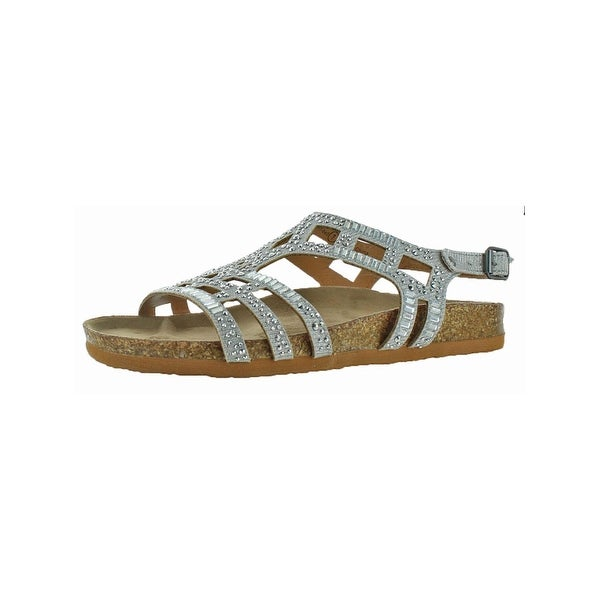 Not Rated Womens Bushiest Strappy Sandals Studded Cut Out