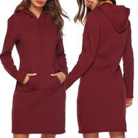 Women's Casual Hoodie Dress with Kangaroo Pocket