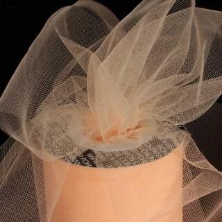 "Designer Peach Tulle Craft Ribbon 3"" x 550 Yards"