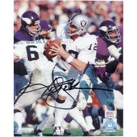 Signed Stabler Ken Oakland Raiders 8x10 Photo autographed