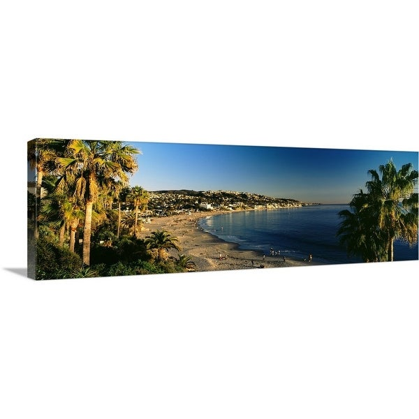 """Resorts on the beach, Laguna Beach, Orange County, California"" Canvas Wall Art"