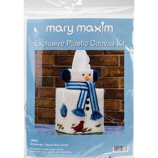 "Snowman Tissue Box Plastic Canvas Kit-5"" 7 Count"