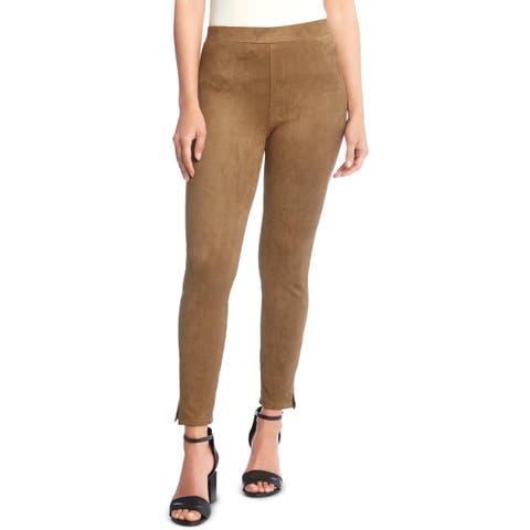 Karen Kane Womens Trouser Pants Faux Suede Tapered