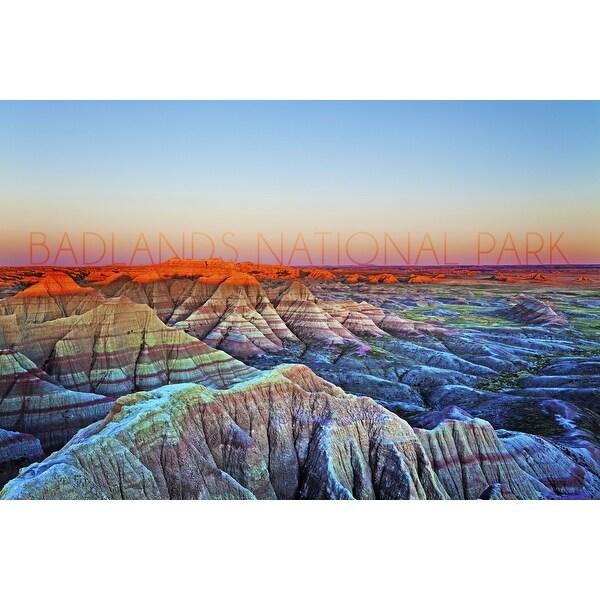 Badlands National Park SD Sunrise - LP Photography (100% Cotton Towel Absorbent)