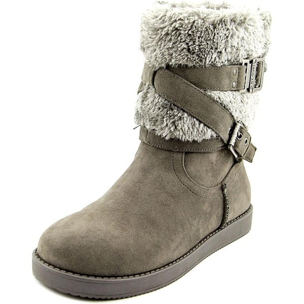 G By Guess Azzie Women  Round Toe Canvas Gray Winter Boot