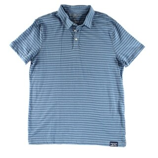 Calvin Klein NEW Blue Mens Size Large L Striped Polo Rugby Shirt