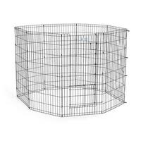 "Midwest Life Stages Pet Exercise Pen with Split Door  Black 24"" x 48"""
