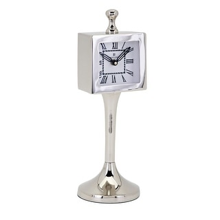 "IMAX Home 13865  12"" x 4"" Cadell Analog Desk Clock - Silver"