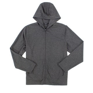 Alfani Night Gray Mens Size 3XL Stretch Full Zip Hooded Sweater
