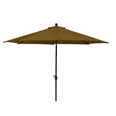 9' Autotilt Market Umbrella with Olefin Fabric, Base Not Included