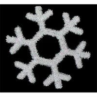 "17"" White Iridescent Snowflake Hanging Christmas Decoration"