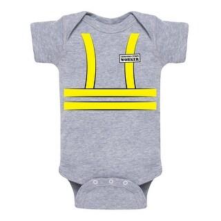 Construction Worker (Tuxedo)-Cute Infant One Piece