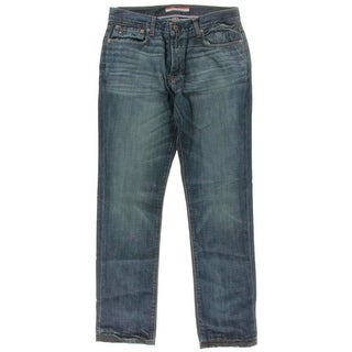Tommy Hilfiger Mens Straight Leg Jeans Low Rise Distressed