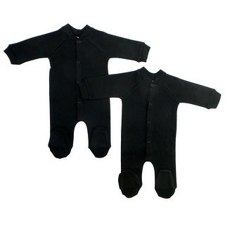 Bambini Black Interlock Sleep & Play (Pack of 2) - Size - Large - Unisex