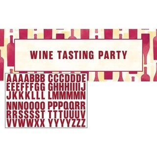 """Club Pack of 6 Red Decorative Wine Tasting Party Themed Party Banners 11.5"""""""