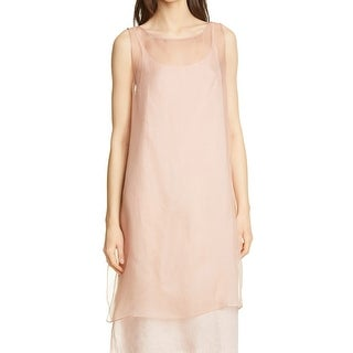 Link to Eileen Fisher Women's Shift Dress Pink Size XS Sheer Organza Silk Similar Items in Pants