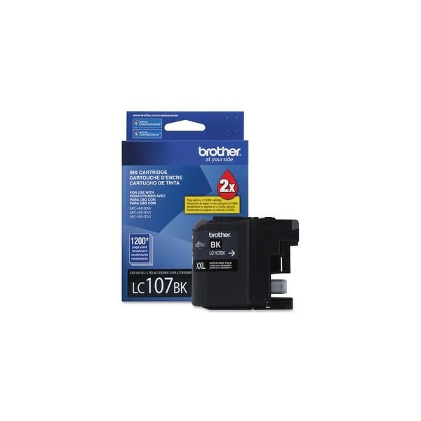 Brother LC107BK Brother Innobella LC107BK Ink Cartridge - Black - Inkjet - 1200 Page - 1 Each