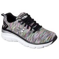 Skechers Women's Fashion Fit Sneaker,Black/Multi,5.5