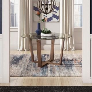 Sheeba Round Angled Walnut Dining Table by iNSPIRE Q Modern