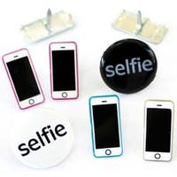 Selfie/Phone - Eyelet Outlet Shape Brads 12/Pkg