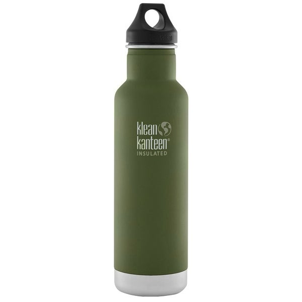 Klean Kanteen Classic Insulated 20 oz. Bottle with Loop Cap - Fresh Pine - fresh pine