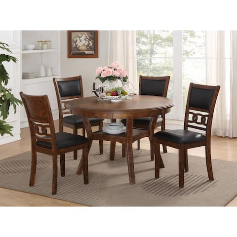 Copper Grove Creteil 5-pc Dining Set w/ 4 Dining Chairs, Brown