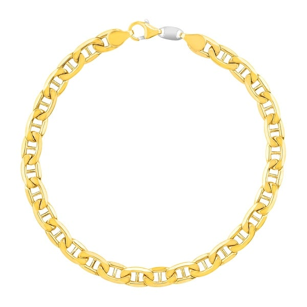 Men's Marine Link Bracelet in 14K Gold-Bonded Sterling Silver - Yellow