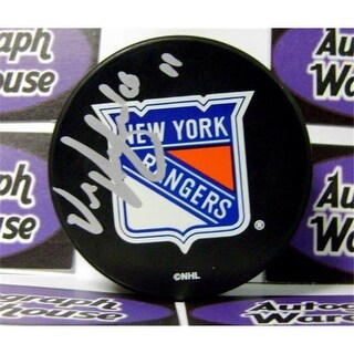 Vic Hadfield Autographed Hockey Puck New York Rangers Retro Puck