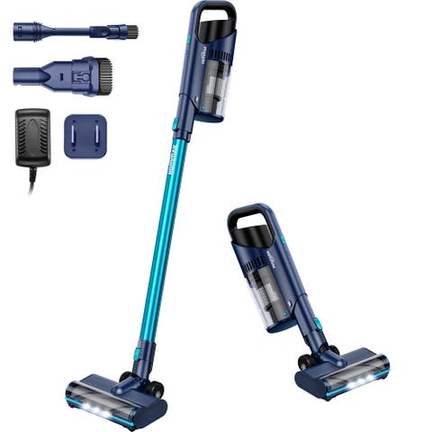 Hommak 6 in 1 Bagless Stick Vacuum Cordless Vacuum Cleaner, Lightweight Portable Quiet Handheld Vac