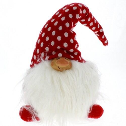 White Polka Dot Gnome