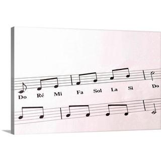 """Close-up of Sheet Music"" Canvas Wall Art"