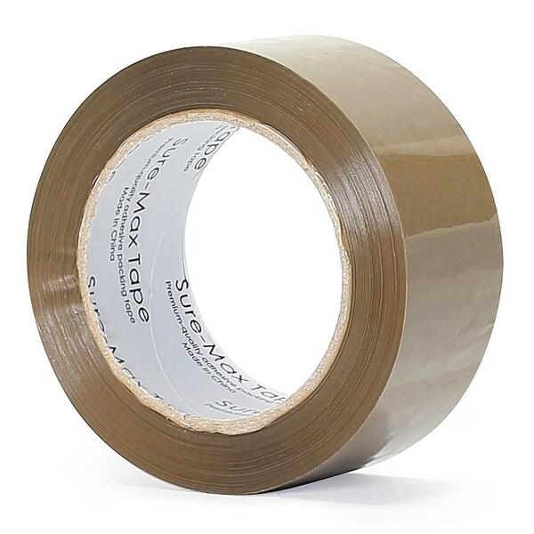 """6 ROLLS Box Sealing Packaging Packing Carton Shipping Tape 2.0 mil 2/"""" x 55 yards"""