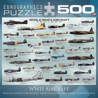 World War II Aircraft 500 Piece Puzzle