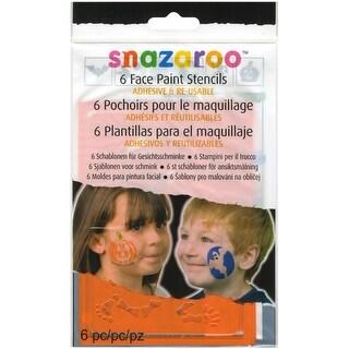 Snazaroo Face Painting Stencils 6/Pkg-Halloween