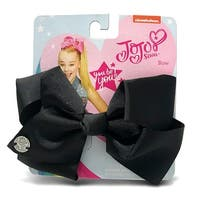 Jojo Siwa Black Basic Bow On Metal Salon Clip