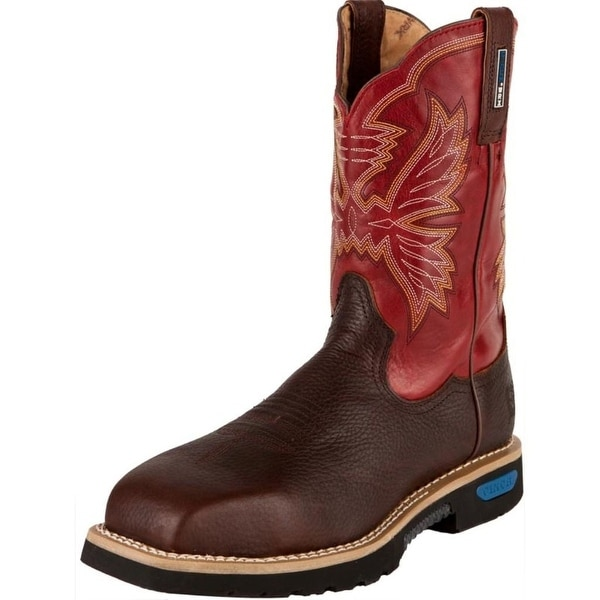 Cinch Work Boots Mens WRX Natural Welt Strong Brown Red