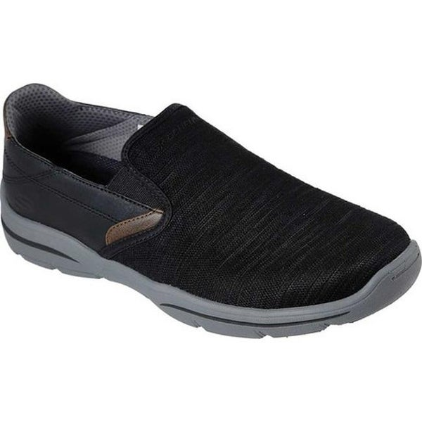 Shop Skechers Men's Relaxed Fit Harper Merson Loafer Black