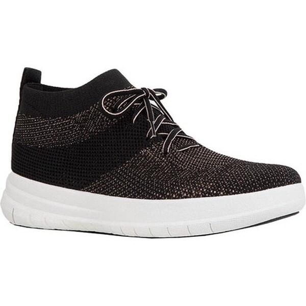 afd77b3ac946cd Shop FitFlop Women s F-Sporty Uberknit High Top Sneaker Black Bronze ...