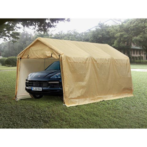 Ainfox 10x17 FT Heavy Duty Enclosed Carport Canopy with Sidewalls