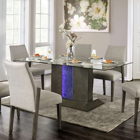 Furniture of America Idekulla Mid-century Grey 76-inch Dining Table