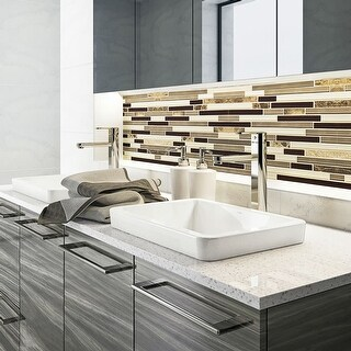 "DecoLav 1453 Ambre 20-1/2"" Rectangular Semi Recessed Vitreous China Lavatory Sink - Ceramic White - N/A"