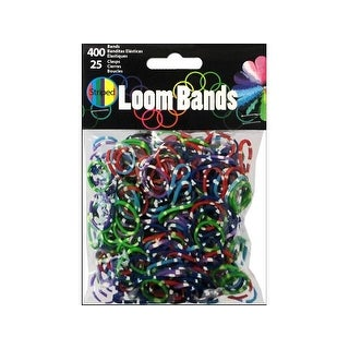 Midwest Design Loom Band Striped Astd 425pc