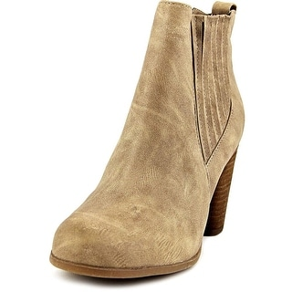 Madden Girl Dominic Women WW Round Toe Synthetic Tan Ankle Boot