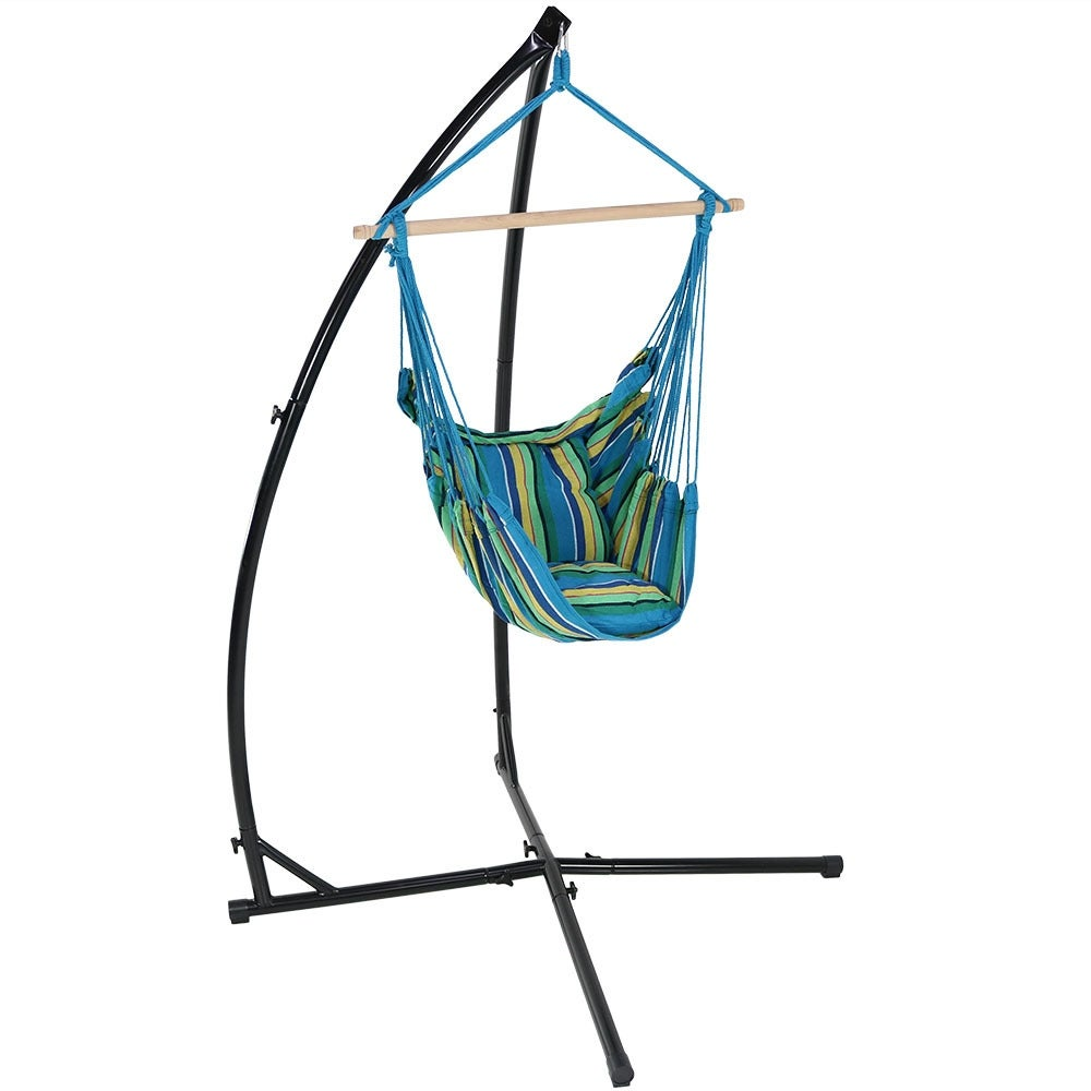 Sunnydaze Durable X-Stand and Hanging Hammock Chair Set or X-Chair Stand ONLY - You Choose - Thumbnail 19