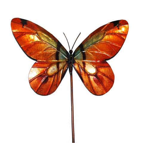 Handmade Butterfly Orange Garden Decoration - 1 x 8 x 24