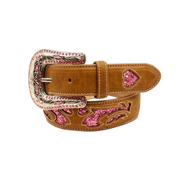 Shop Nocona Western Belt Girls Scroll Piercing Pink Rhinestones - Free  Shipping On Orders Over  45 - Overstock - 19984183 f4e7f8dd36fb