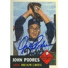 John Podres Brooklyn Dodgers 1994 Topps 1953 Baseball Archives Autographed Card This item comes with a certificate of