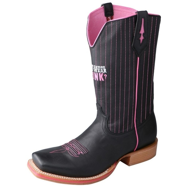 Twisted X Western Boots Mens Red River Tough Enough Black