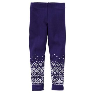 Carters Girls 4-6X Fair Isle Legging - Purple