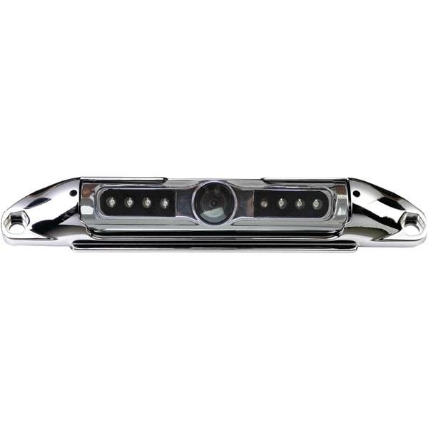 Boyo Vtl400Cir Bar-Type License Plate Camera With Ir Night Vision & Parking-Guide Lines (Chrome)